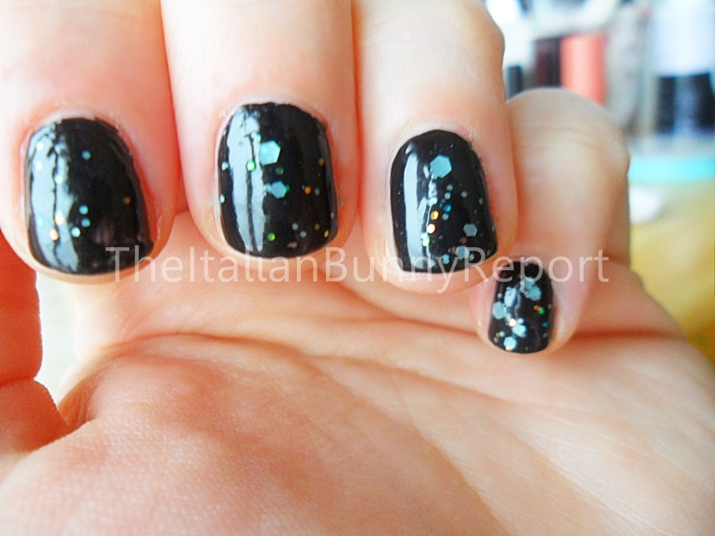 NOTD #7 Black Night – Deep Purple inspired nails