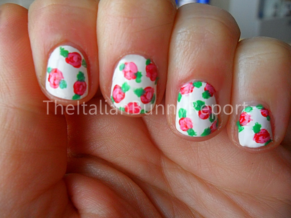 NOTD #6 Cath Kidston inspired nails for Valentine's Day
