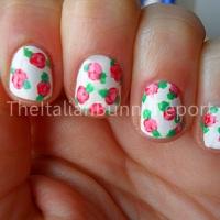 NOTD #6 Cath Kidston inspired nails for Valentine's Day