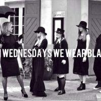 On Wednesdays we wear BLACK.